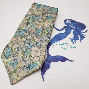 Pierre Cardin Paris Vintage Silk Floral Pastel Tie